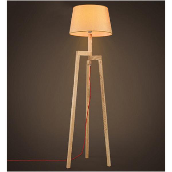 Podna lampa -drvena 1xE27
