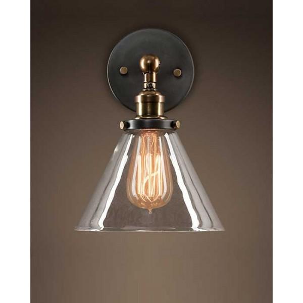 RUSTIK 98 ZIDNA LAMPA 1*E27 GOLD/CLEAR GLASS 05.0063